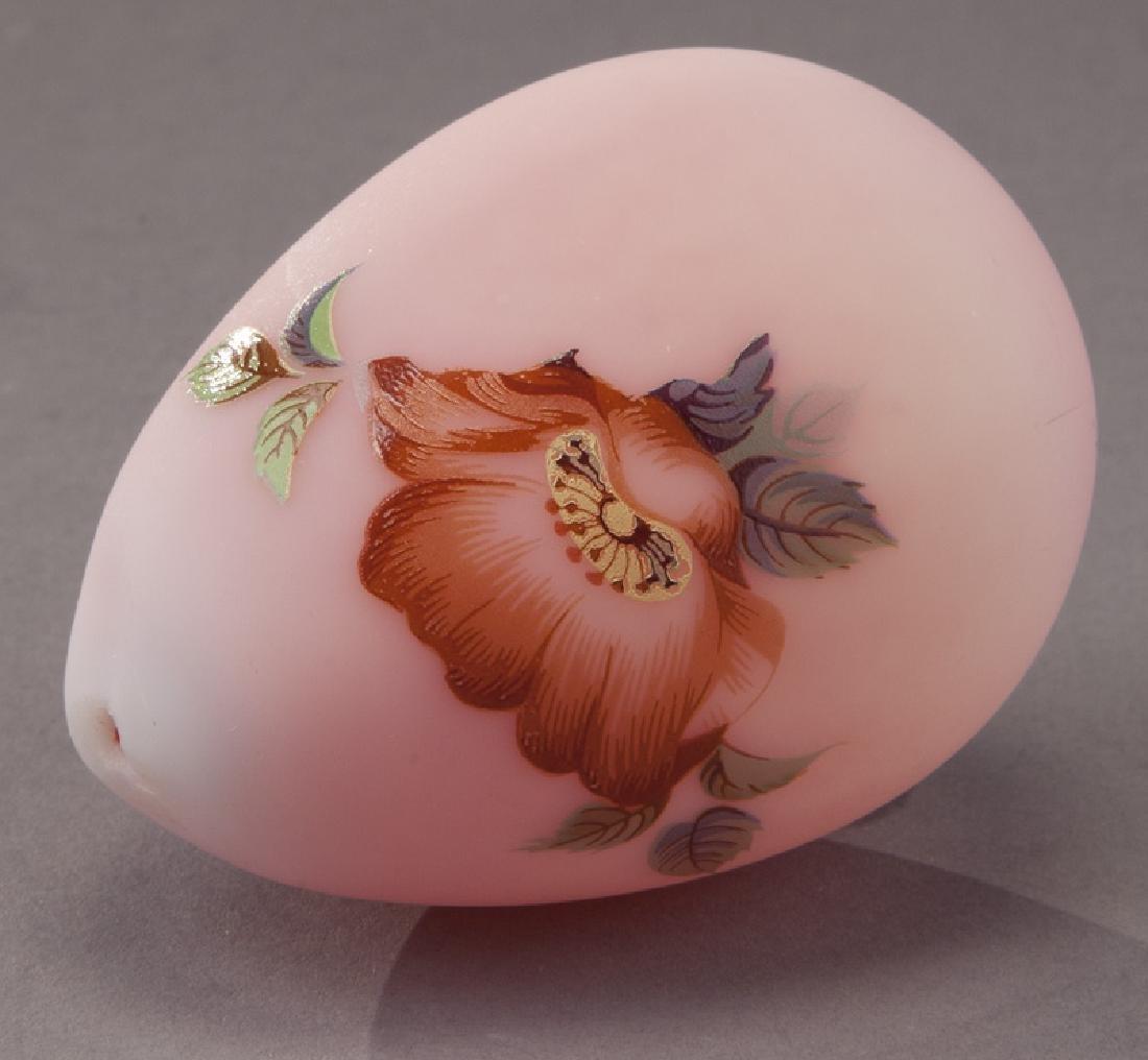 (4) Pcs. Burmese glass, - 7