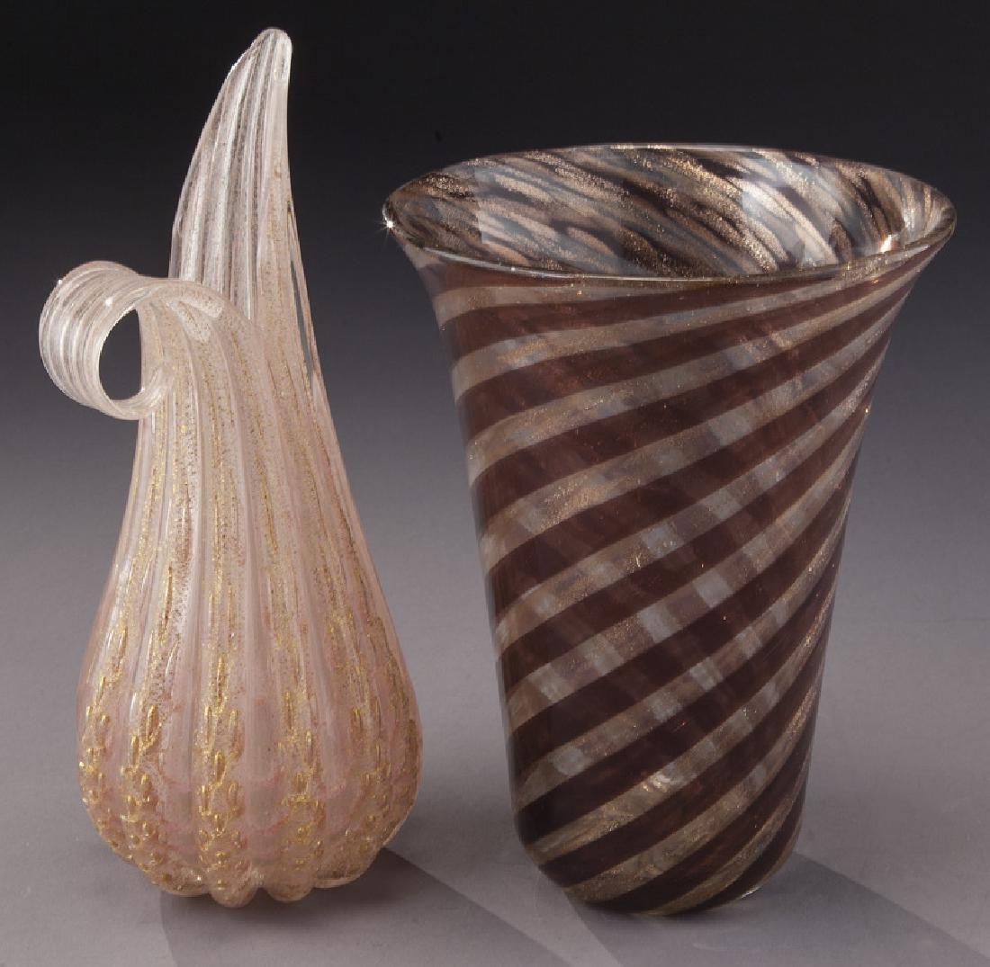 (4) Murano art glass items, - 8