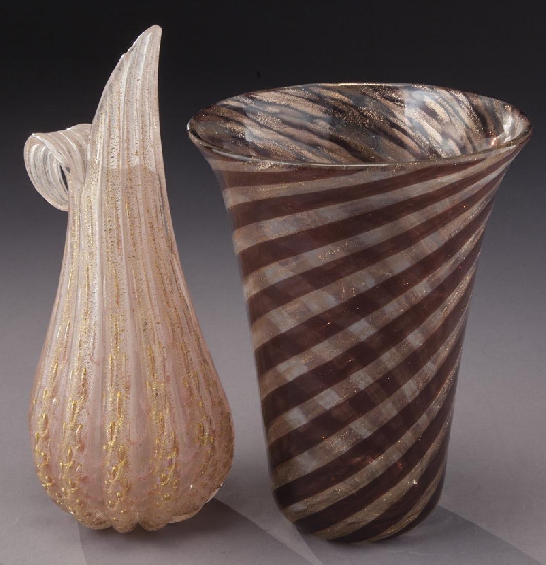 (4) Murano art glass items, - 9