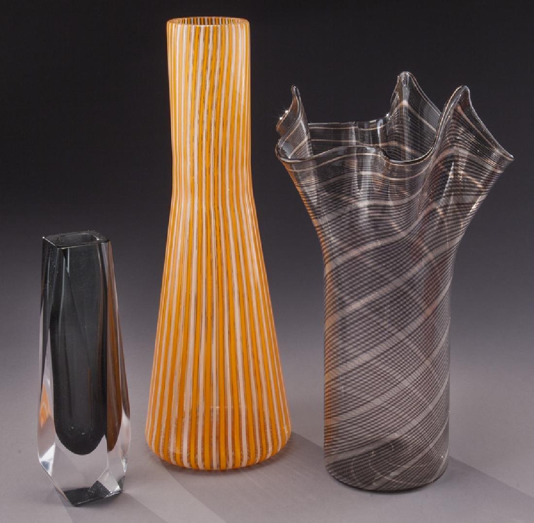 (5) Murano art glass items, - 2