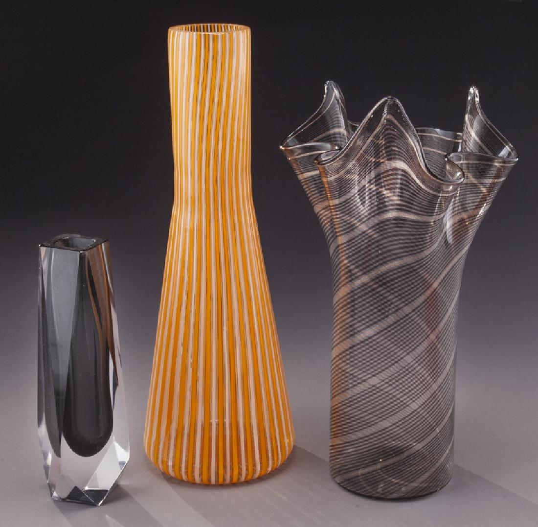 (5) Murano art glass items, - 3