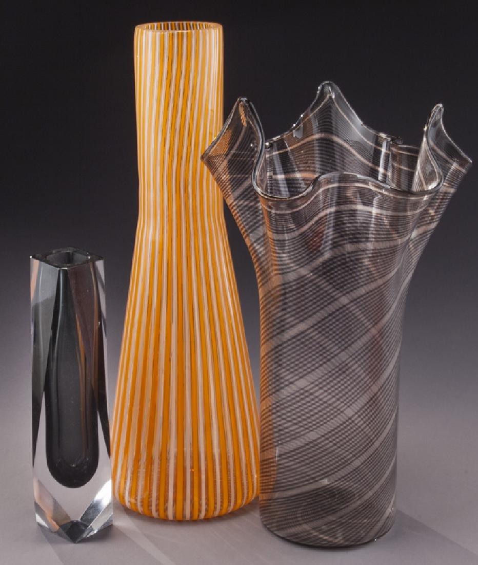 (5) Murano art glass items, - 4