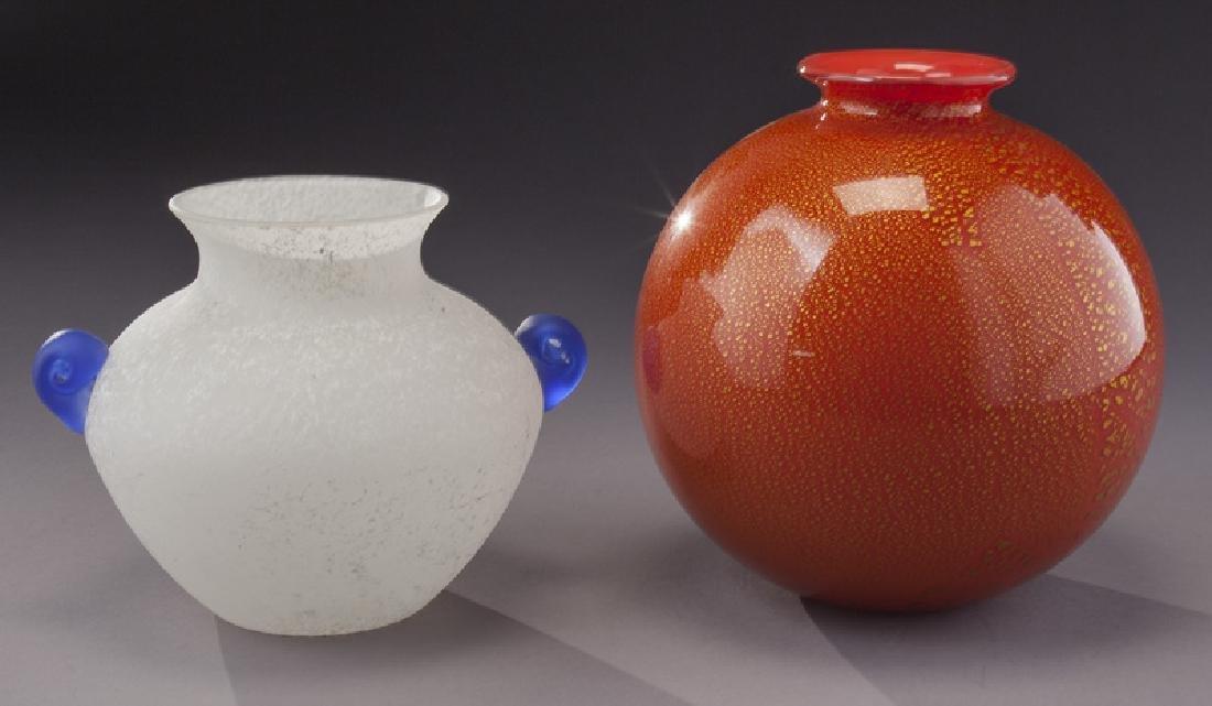 (5) Murano art glass items, - 5
