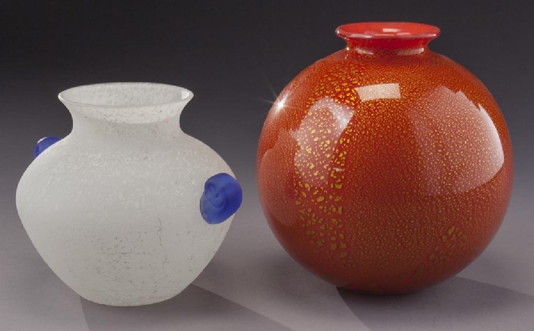 (5) Murano art glass items, - 6