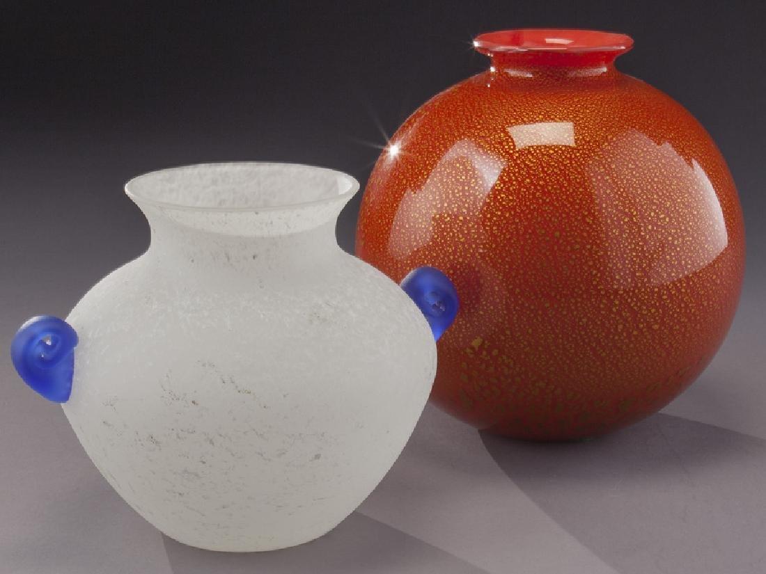 (5) Murano art glass items, - 7