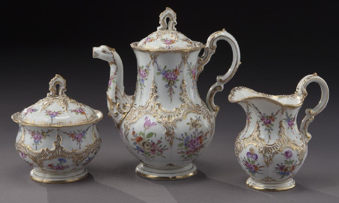 (3) Pc. Meissen porcelain coffee service,