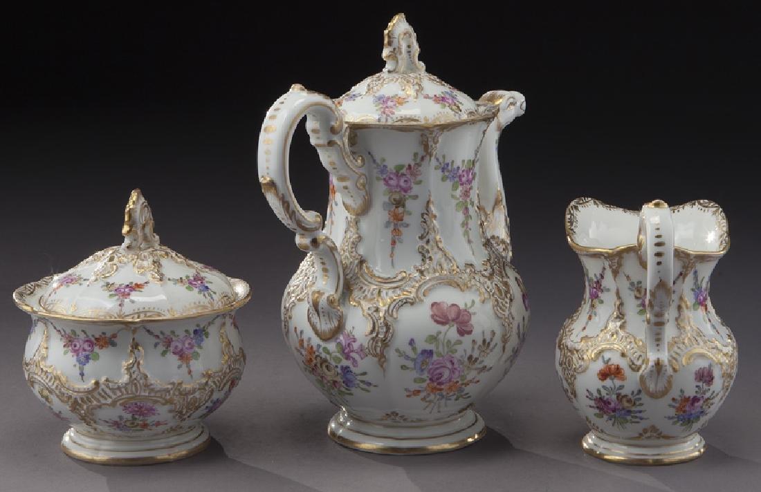(3) Pc. Meissen porcelain coffee service, - 3