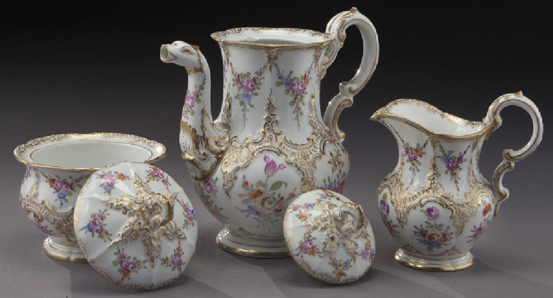 (3) Pc. Meissen porcelain coffee service, - 5