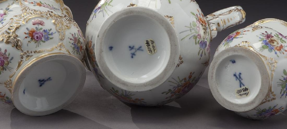 (3) Pc. Meissen porcelain coffee service, - 6