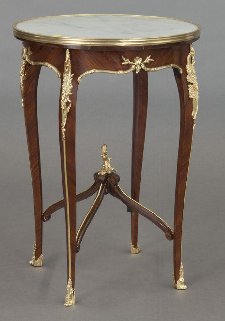 Pr. French Louis XV style table, - 2