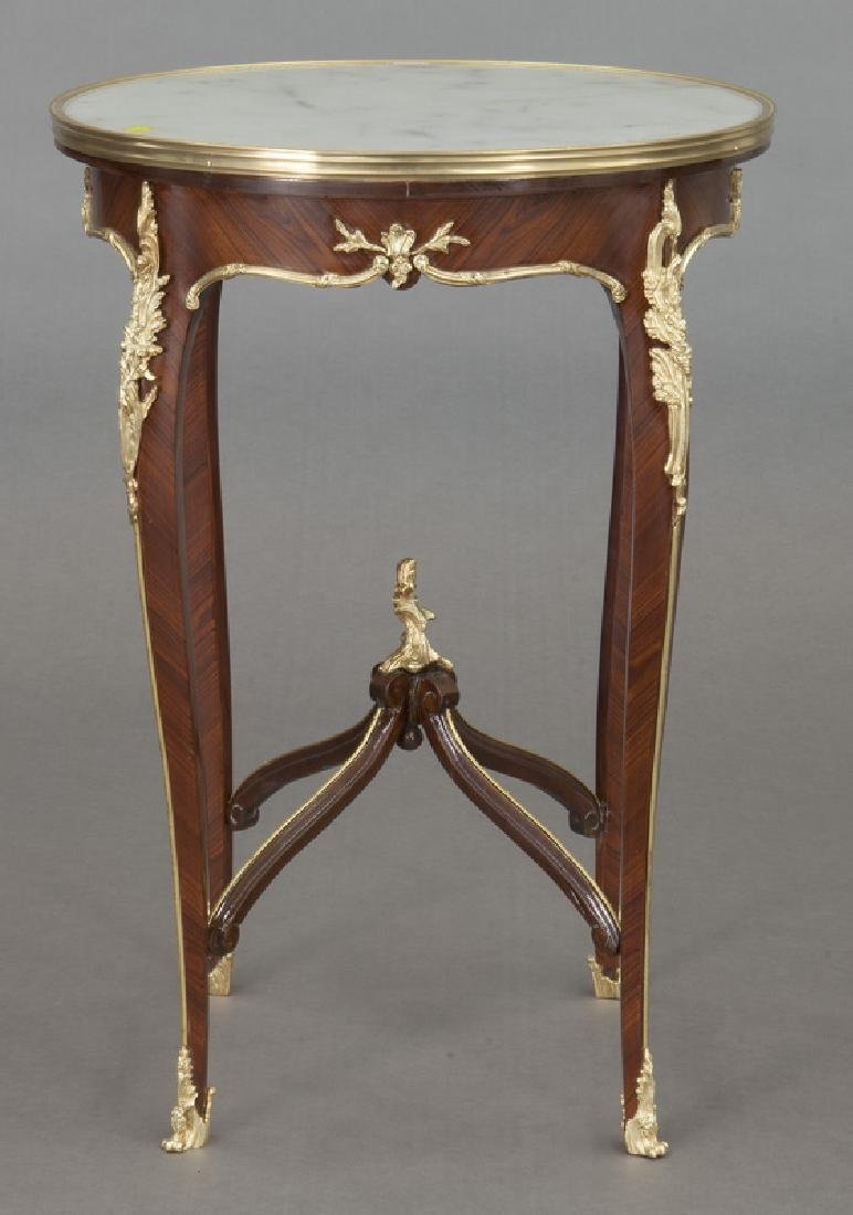 Pr. French Louis XV style table, - 3