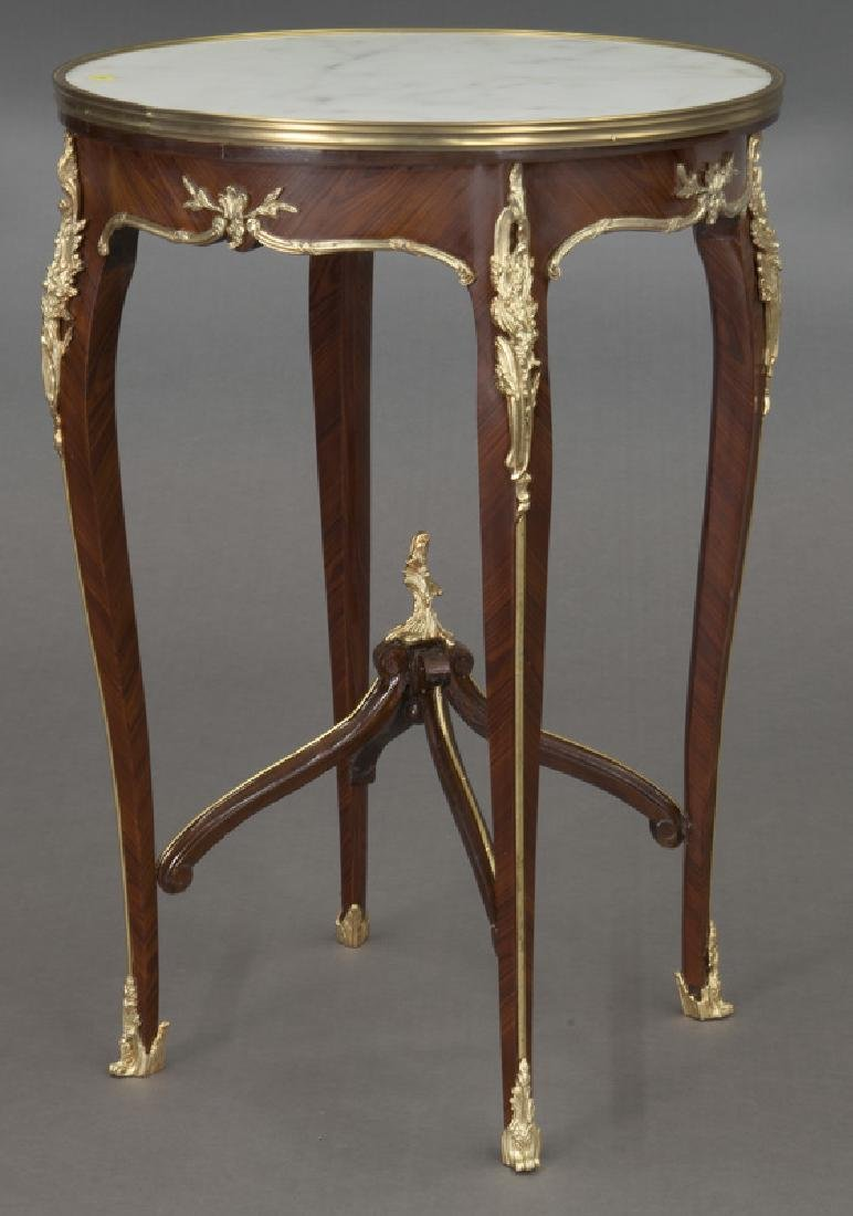 Pr. French Louis XV style table, - 4
