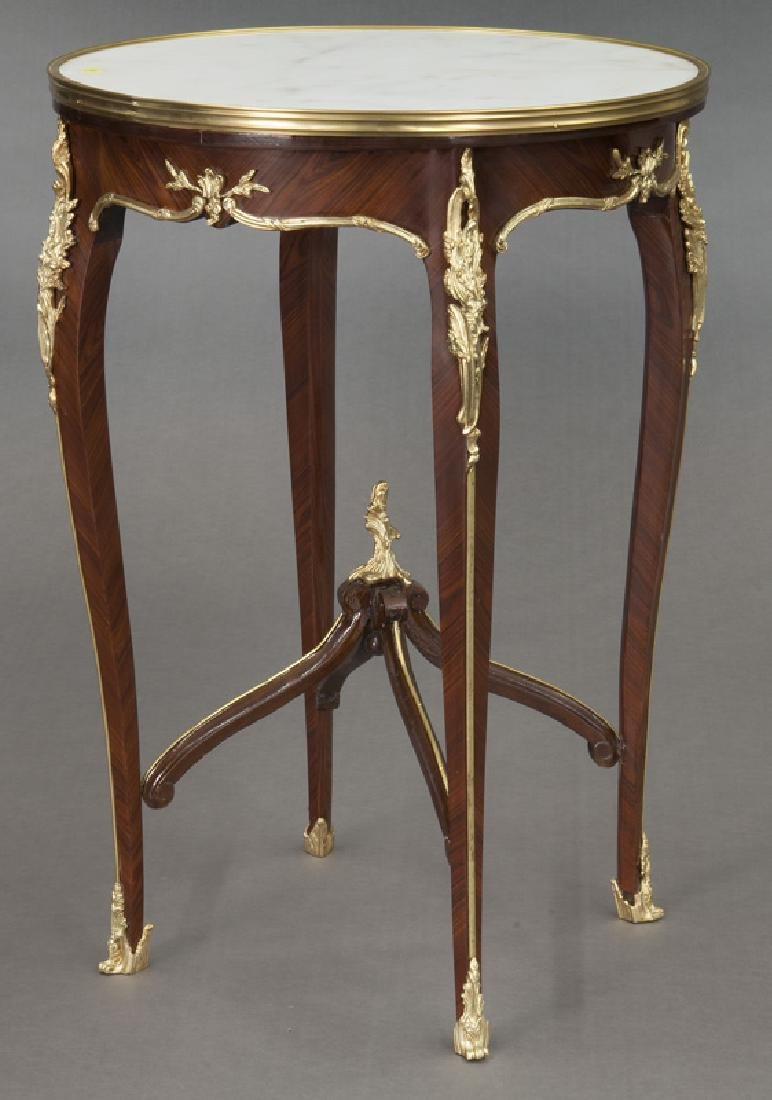 Pr. French Louis XV style table, - 5