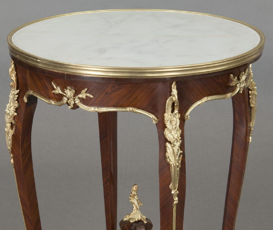 Pr. French Louis XV style table, - 6