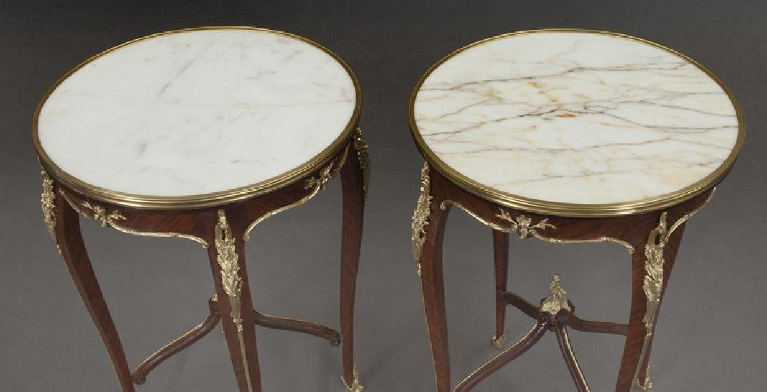 Pr. French Louis XV style table, - 8