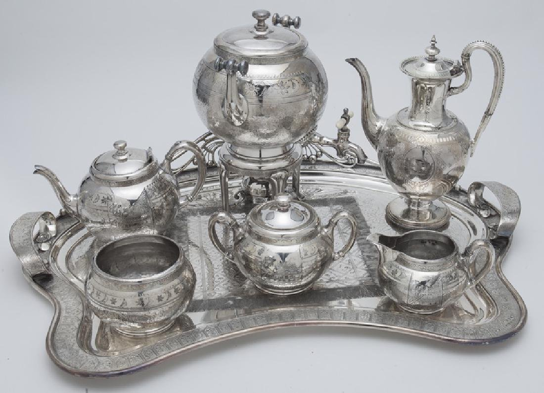 (7) Pc. Silverplate coffee and tea service,