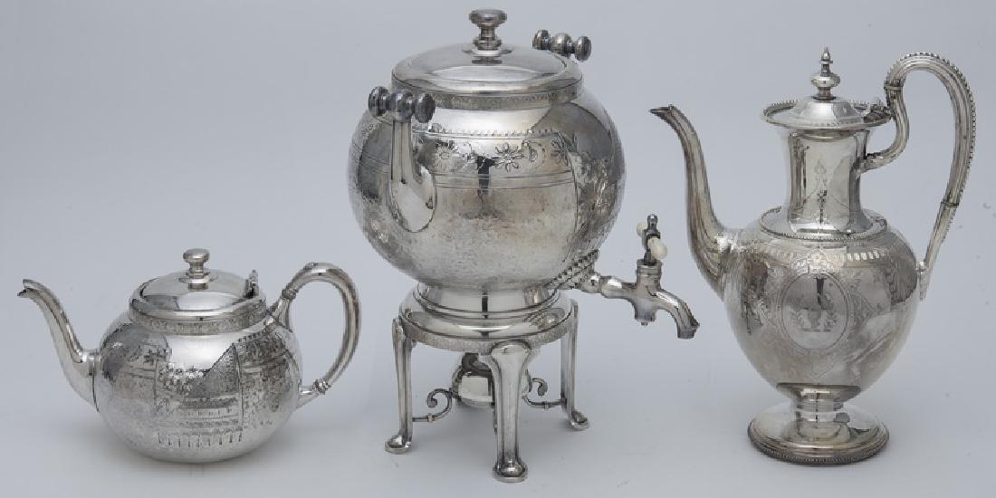 (7) Pc. Silverplate coffee and tea service, - 5
