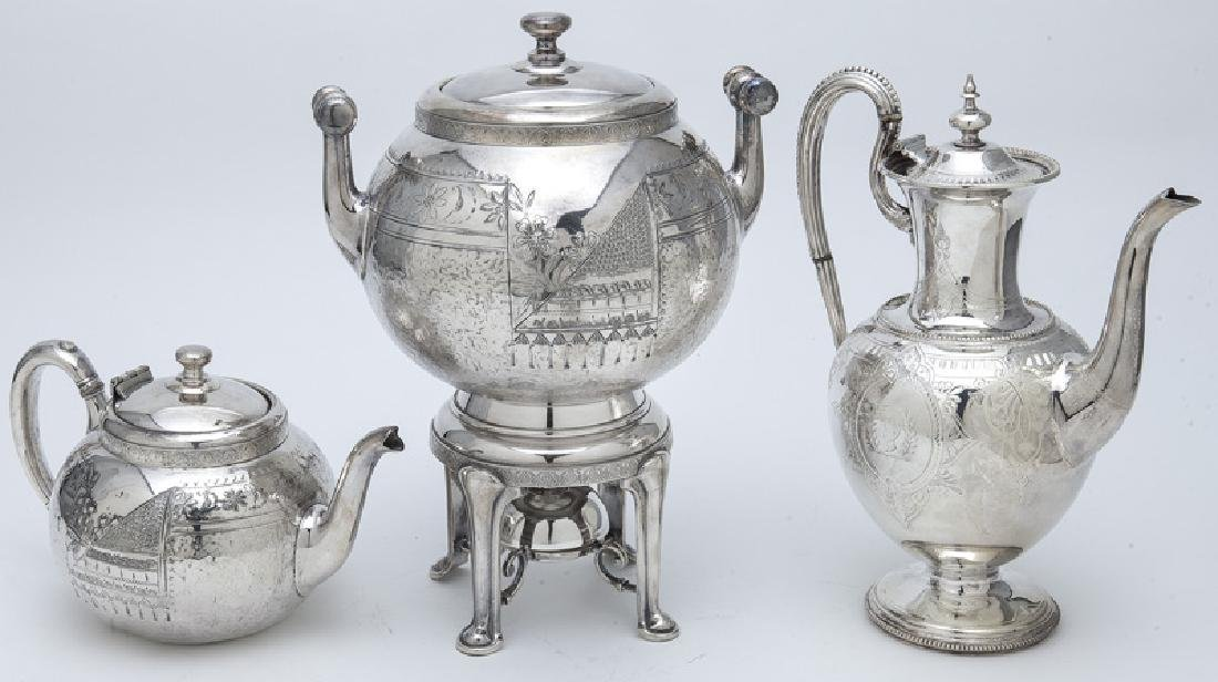 (7) Pc. Silverplate coffee and tea service, - 6
