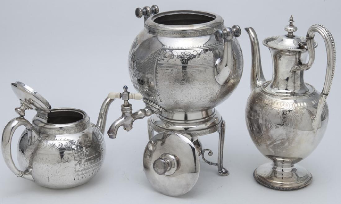 (7) Pc. Silverplate coffee and tea service, - 7