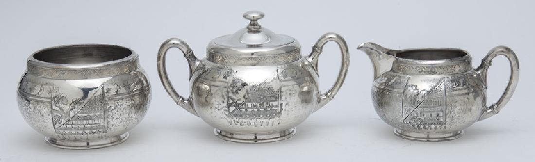 (7) Pc. Silverplate coffee and tea service, - 8