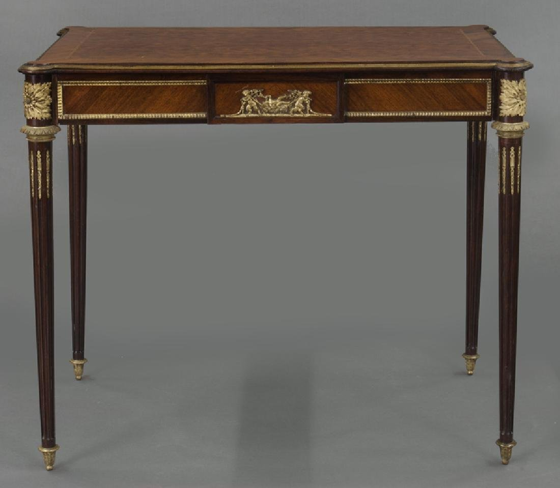 Louis XVI style dore bronze mounted side table, - 2