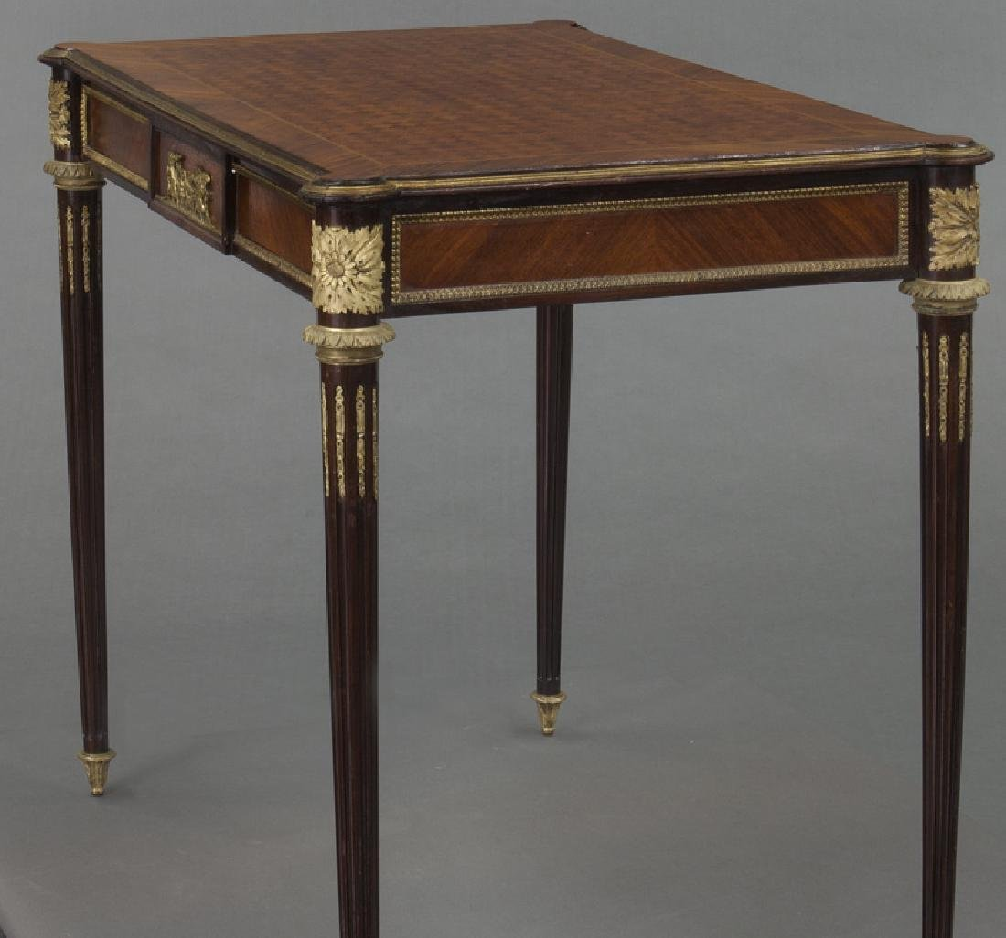 Louis XVI style dore bronze mounted side table, - 3