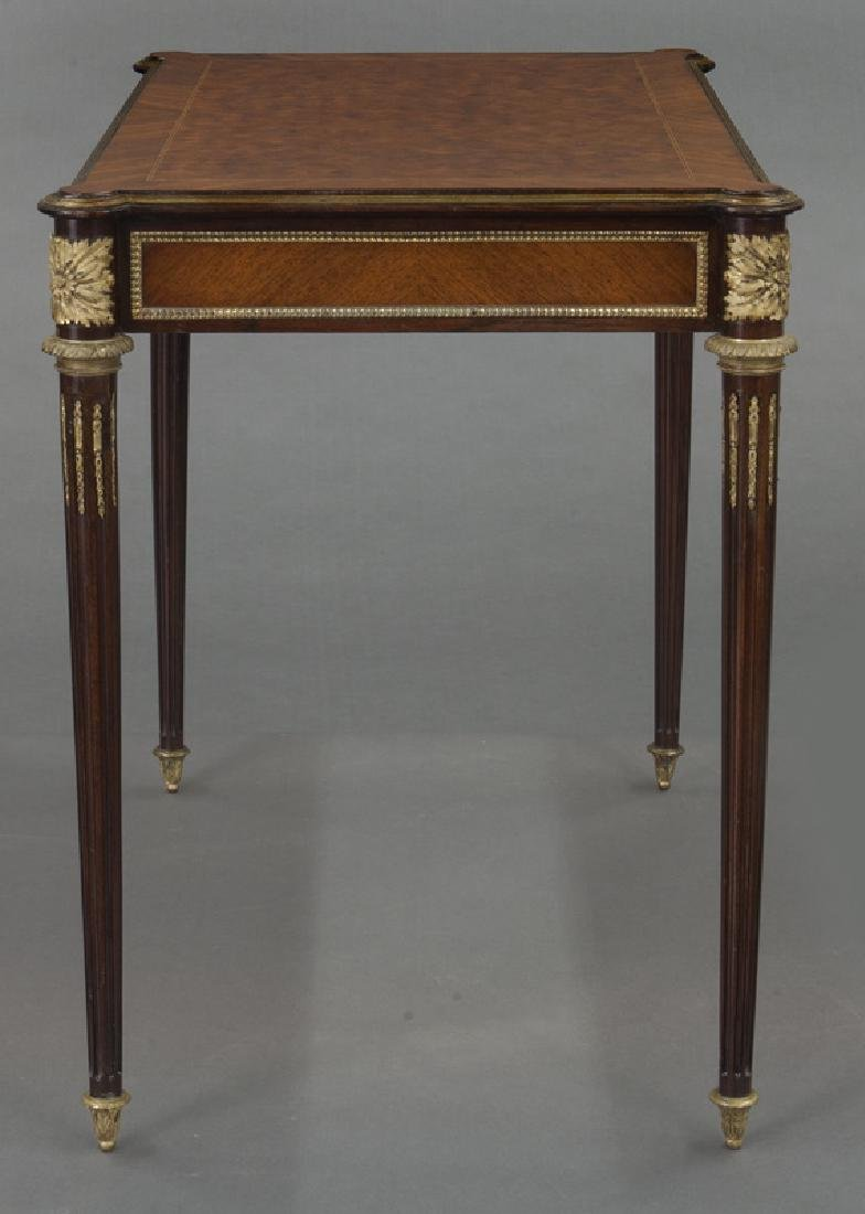 Louis XVI style dore bronze mounted side table, - 5