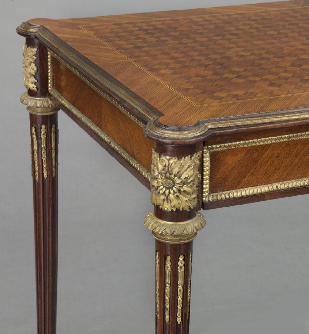 Louis XVI style dore bronze mounted side table, - 8