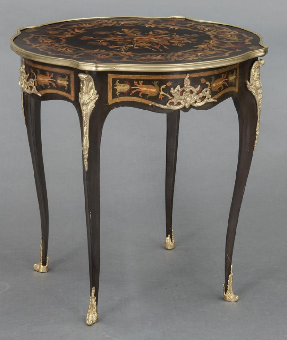 Pr. Louis XV style inlaid side tables - 2