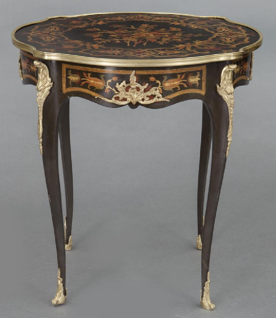 Pr. Louis XV style inlaid side tables - 3