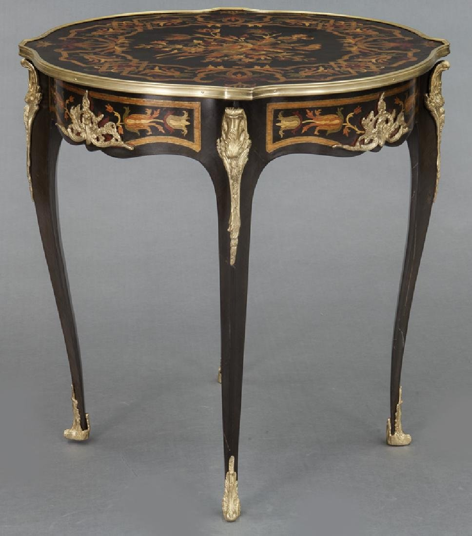 Pr. Louis XV style inlaid side tables - 4
