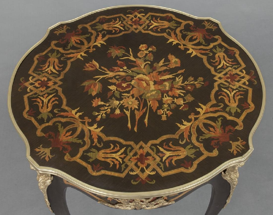 Pr. Louis XV style inlaid side tables - 6