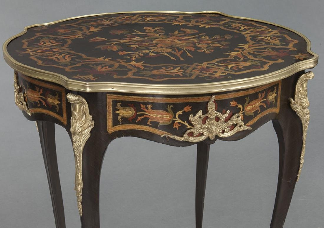 Pr. Louis XV style inlaid side tables - 7