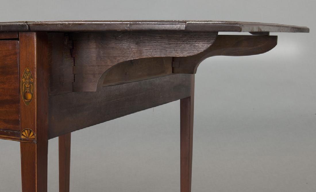 English inlaid mahogany Pembroke - 10