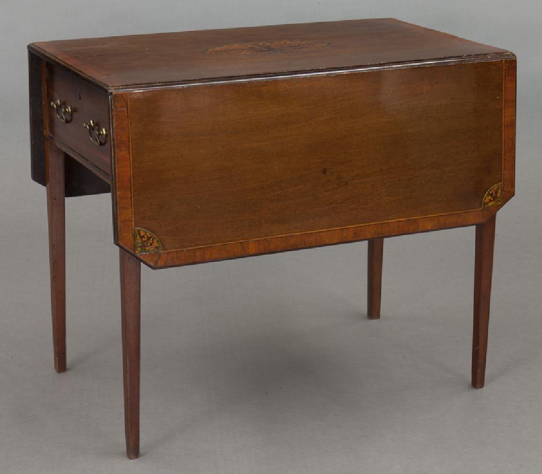 English inlaid mahogany Pembroke - 2