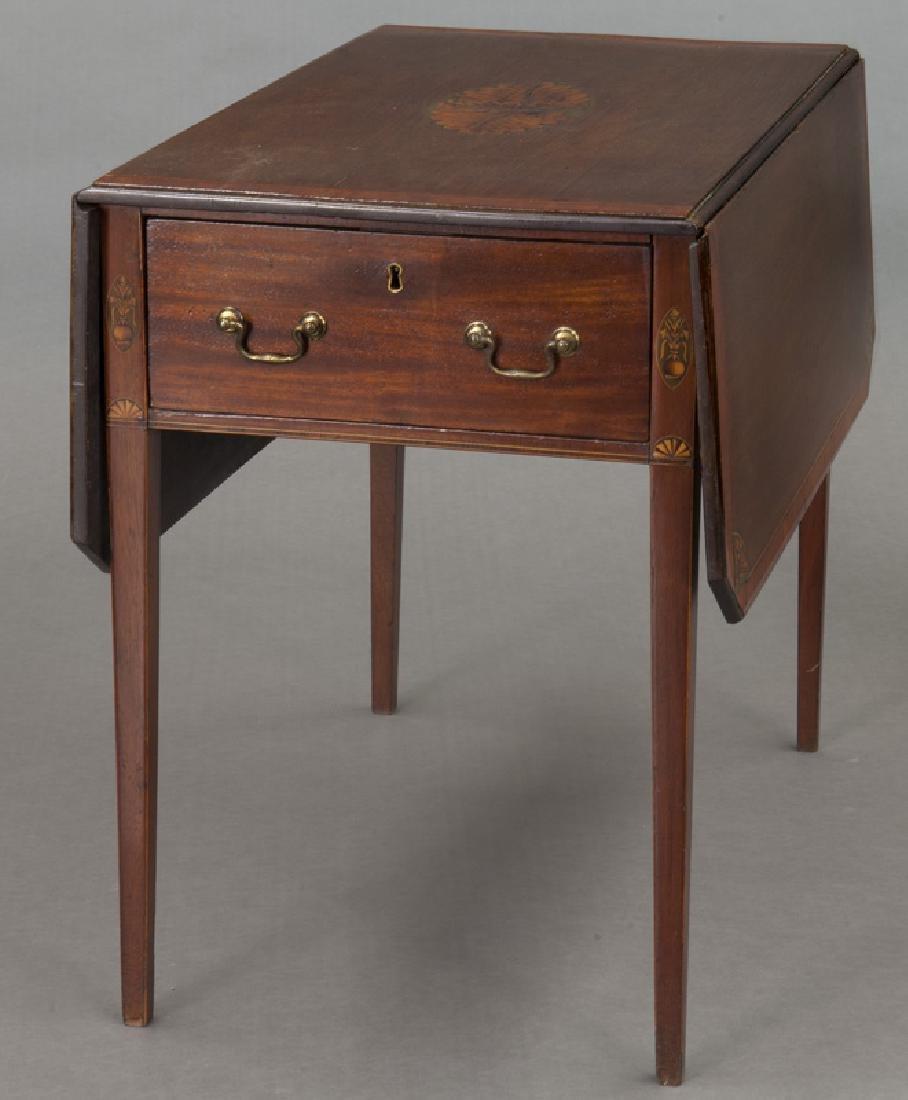 English inlaid mahogany Pembroke - 3