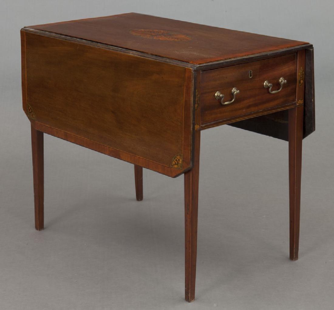 English inlaid mahogany Pembroke - 5