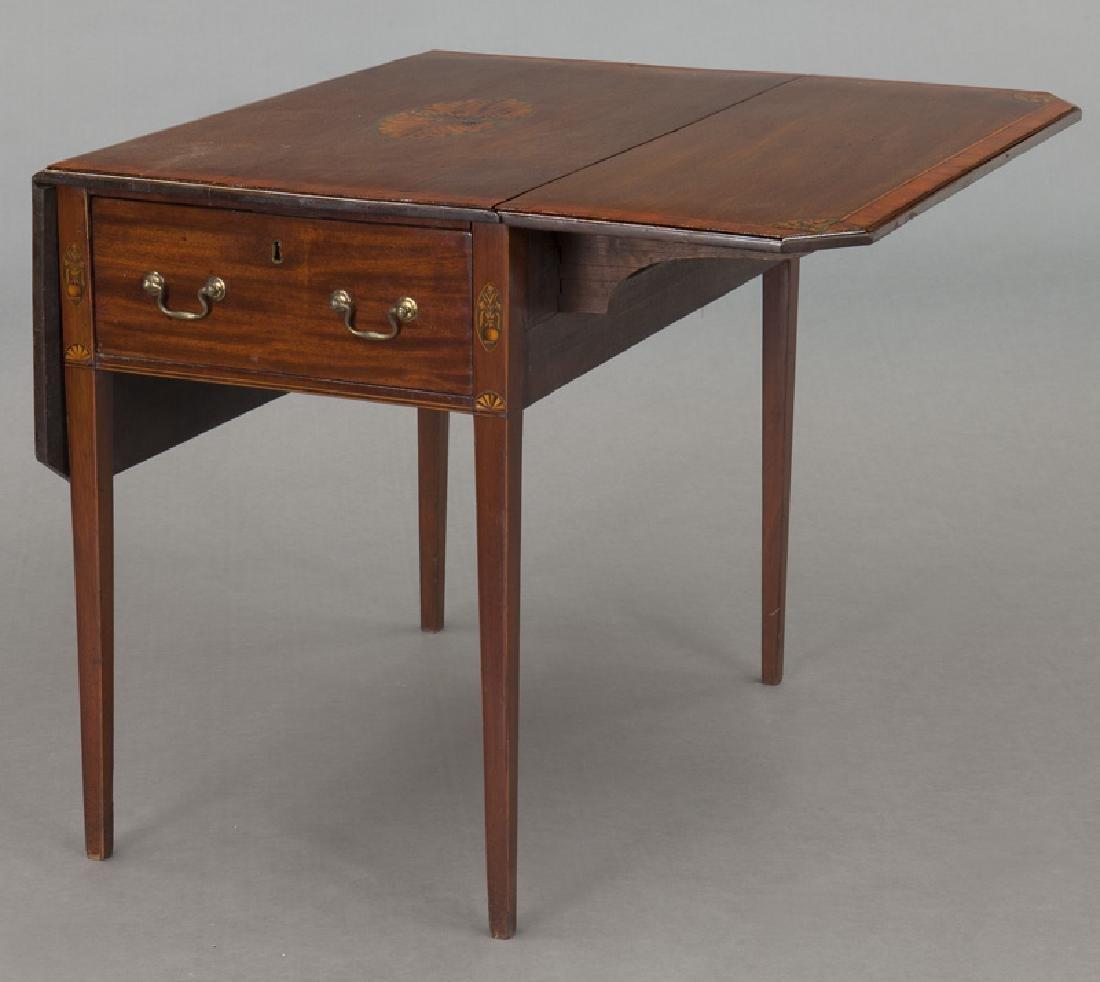 English inlaid mahogany Pembroke - 6