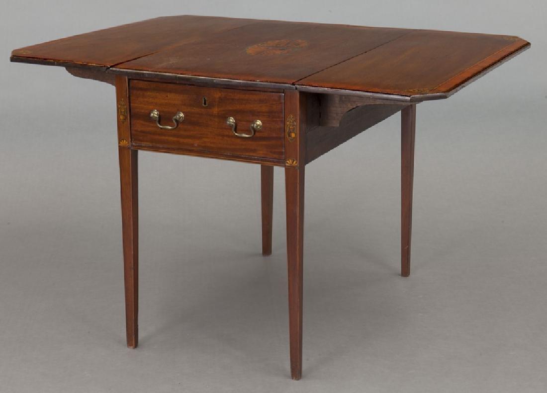 English inlaid mahogany Pembroke - 7
