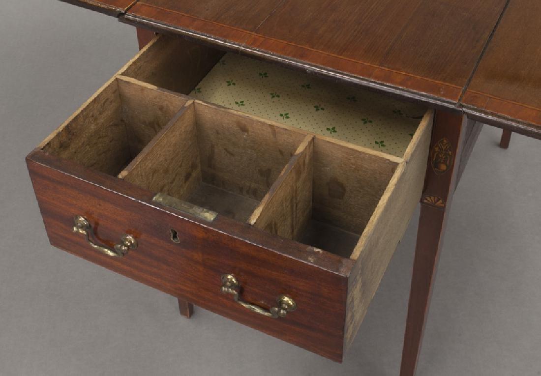 English inlaid mahogany Pembroke - 9