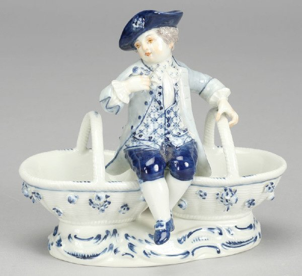 14: Pair of Meissen porcelain figural double