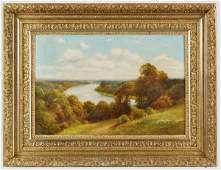 170: George Vicat Cole oil painting on canvas