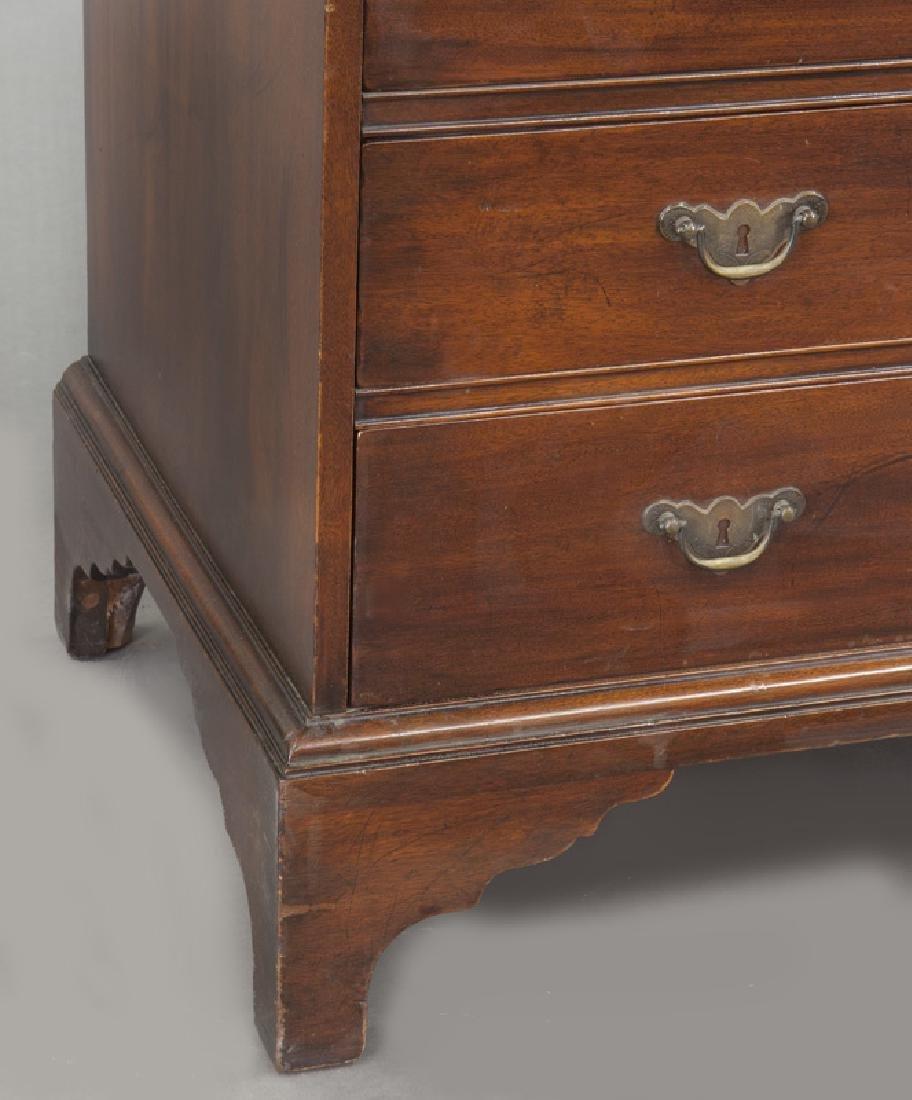 George III style English inlaid mahogany slant front - 10