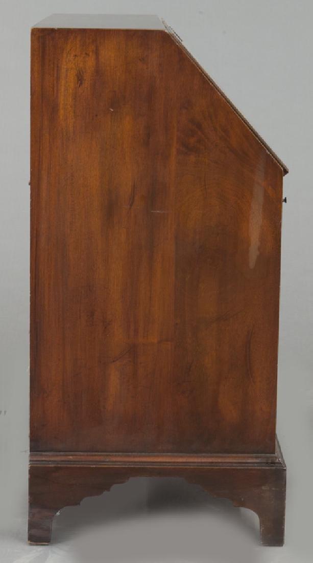 George III style English inlaid mahogany slant front - 5