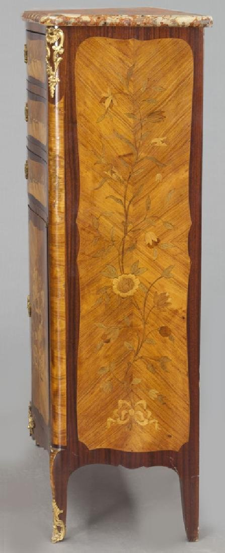 Pr. 19th C. French marquetry inlaid cabinets - 4