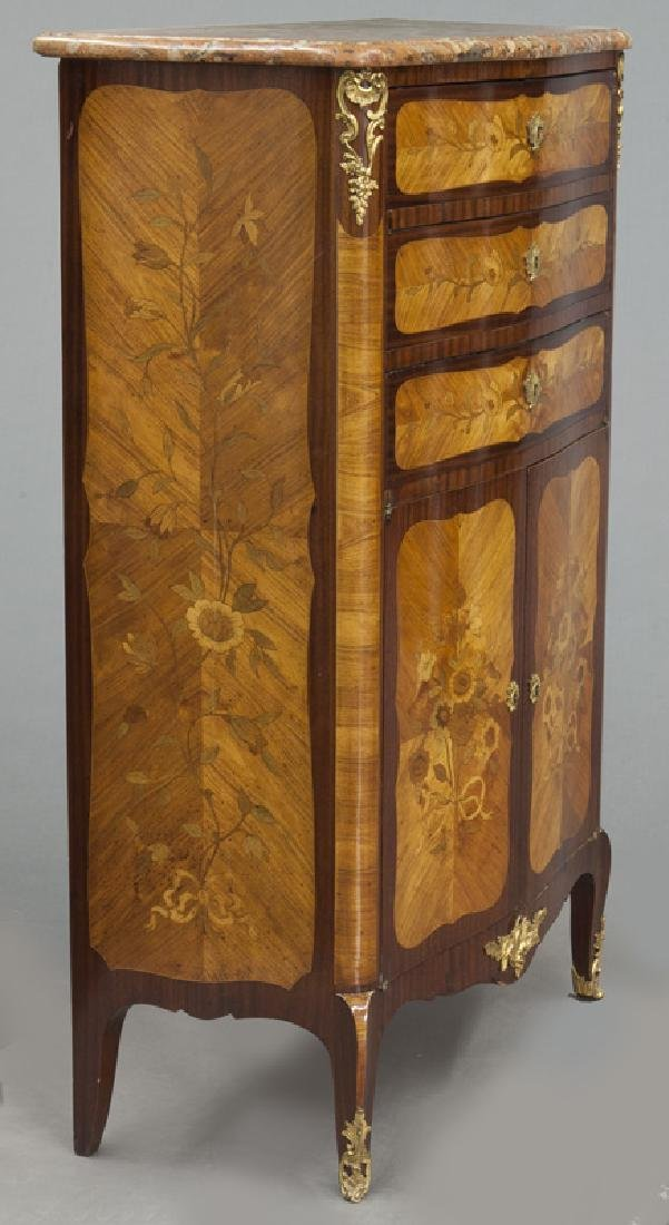 Pr. 19th C. French marquetry inlaid cabinets - 6