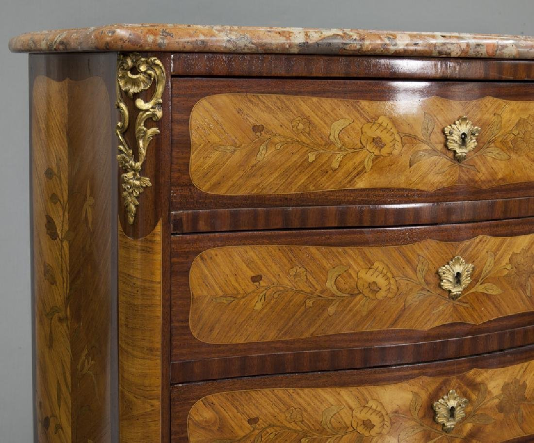 Pr. 19th C. French marquetry inlaid cabinets - 8
