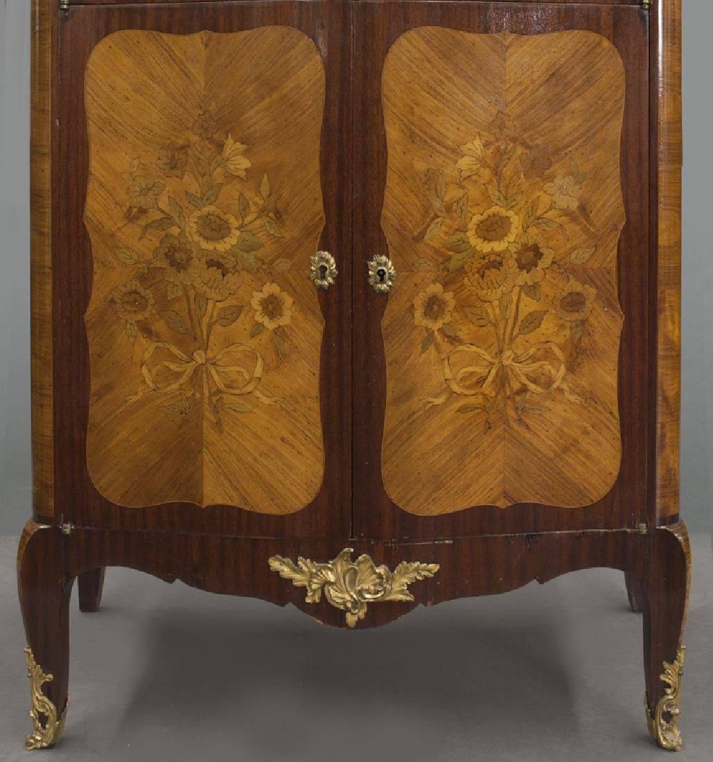 Pr. 19th C. French marquetry inlaid cabinets - 9