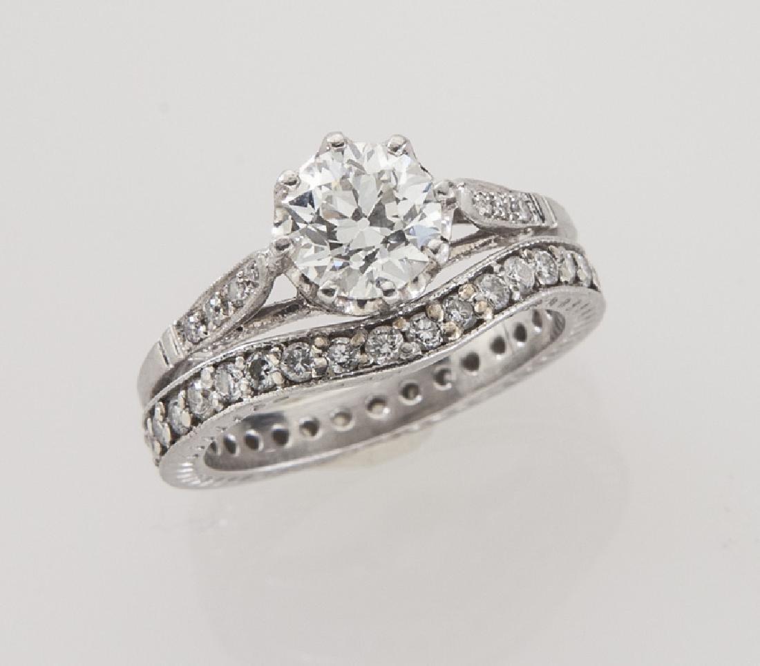 Platinum and diamond, 1.19 cts. (GIA) engagement