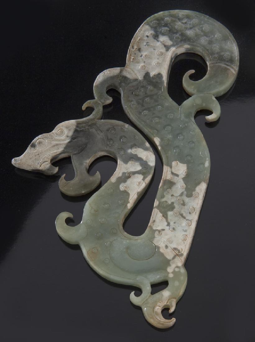 Chinese Han style jade pendant,
